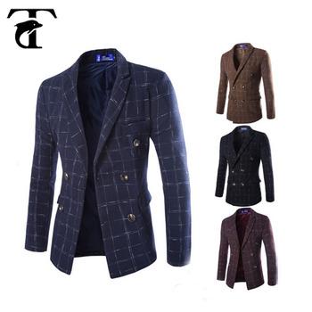 7e32ea2f13 2017 nueva moda de lana café slim fit diseño invierno hombre trench  chaqueta hombres abrigos