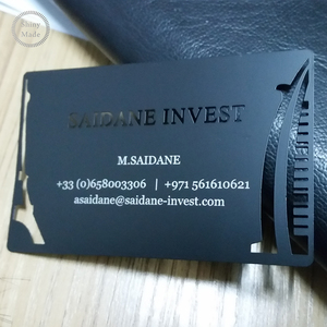 Custom laser cut sublimation stainless steel frosted blank business metal card