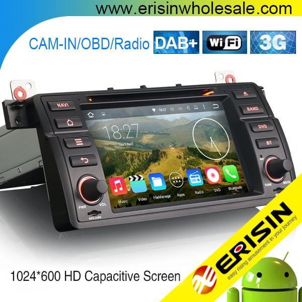 "Erisin ES4046B 7"" Auto Radio 2 Din Car DVD GPS for E46 M3"