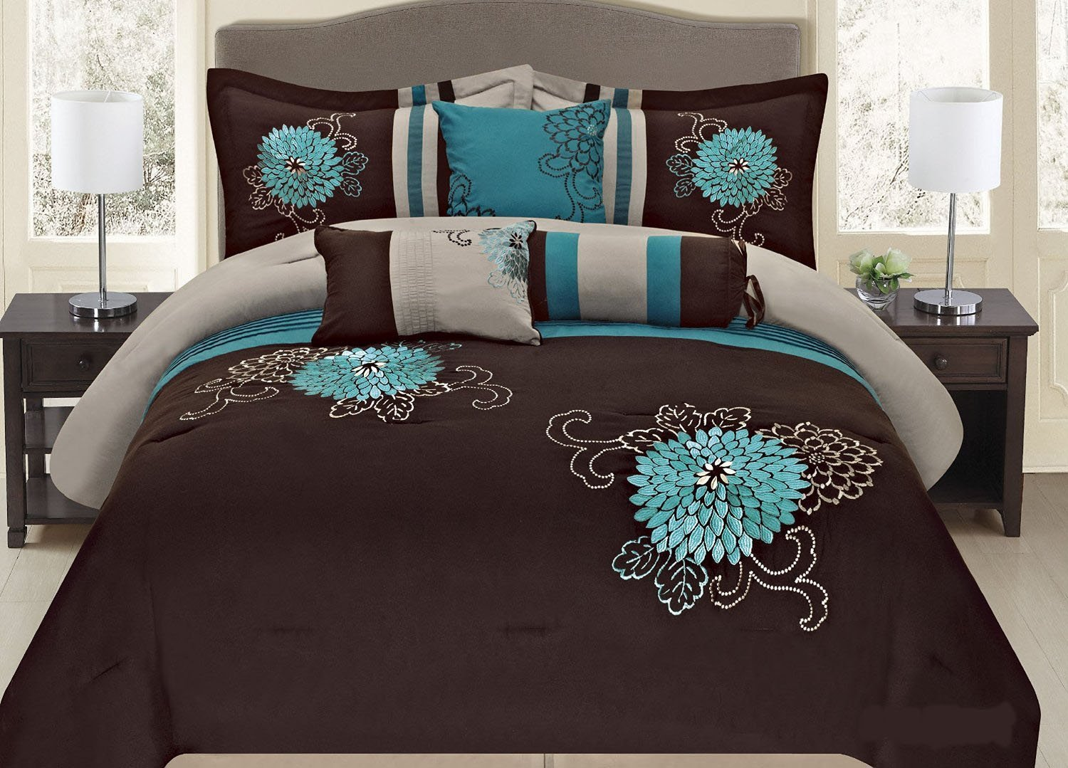 bed brown bedding queen red and beautiful grey green bedroom sets king black blue set comforter