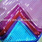 2018 Fashion design 6mm round shiny spangle sequin with holes embroidered mesh fabric for garment accessory
