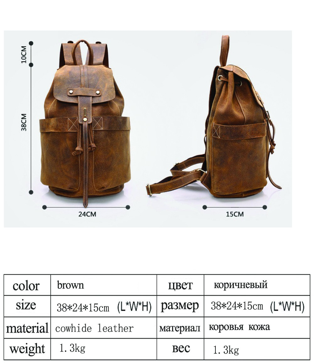 b7298d855c Wholesale Y.ZHUO Cow Leather Man Backpack 100% Genuine Leather Man ...