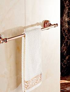 FW Towel Bar Gold Wall Mounted 64cm*7.8cm*6.4cm(25.2*3.1*2.5inch) Brass / Zinc Alloy Neoclassical