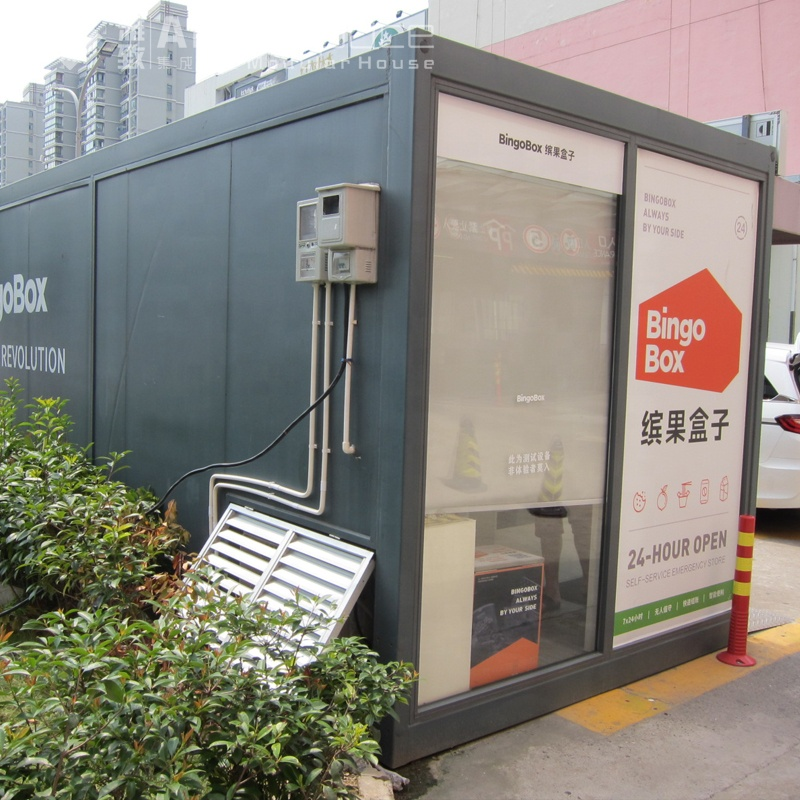 Prefabricated stores with container packing box