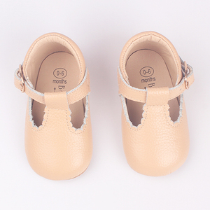 Wholesale Cute Girl Toddler Ballet Soft Leather Shoes T Bar T Strap Baby Shoes