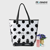 Bag manufacturer handbags ladies Dot Printed transparent plastic pvc beach bag waterproof