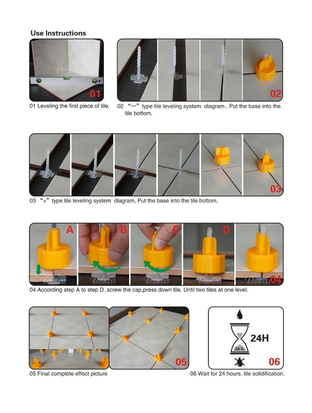 3mm Tile Leveling System Clip Tile Leveling Clip Spacer