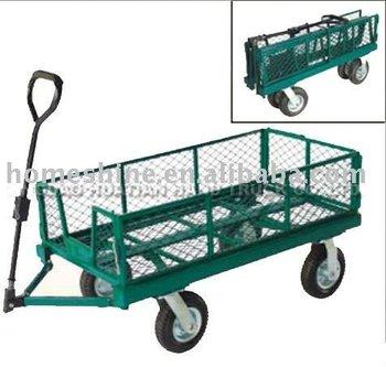 metal folding 4 wheel garden beach hand cart tc4212