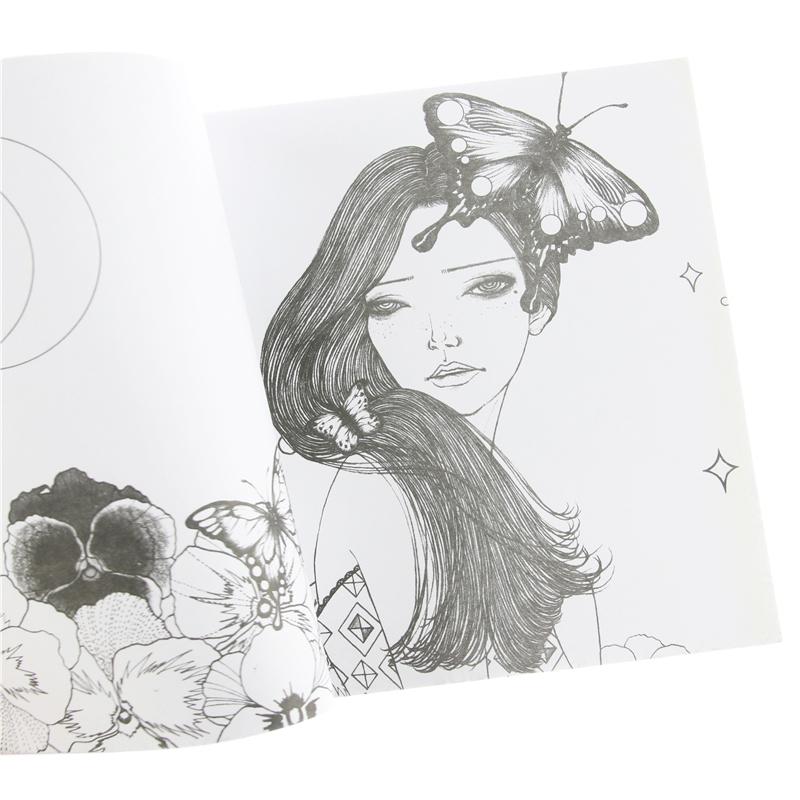 96 páginas corea del Sueño de niña libros para Colorear para Adultos ...