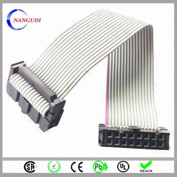 "500mm Ul2651 28awg Pitch 0.1"" 2.54mm 16 Pin Idc Flat Ribbon Cable ..."