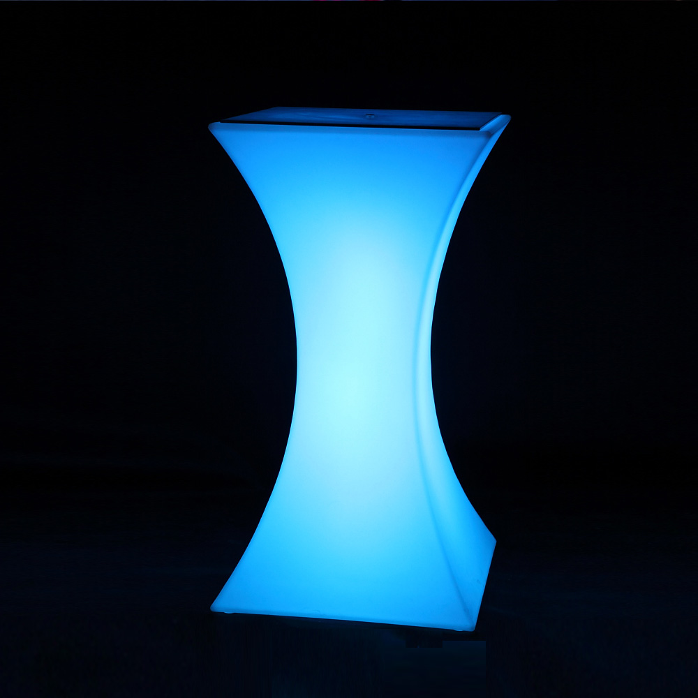 Smart Portable Waterproof rechargeable High Top <strong>Bar</strong> 16 color Plastic led <strong>bar</strong> table For Pub Hotel Party Events