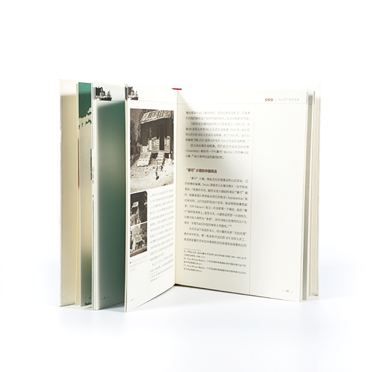 Maker provide cheap hardcover book printing with ribbon book mark