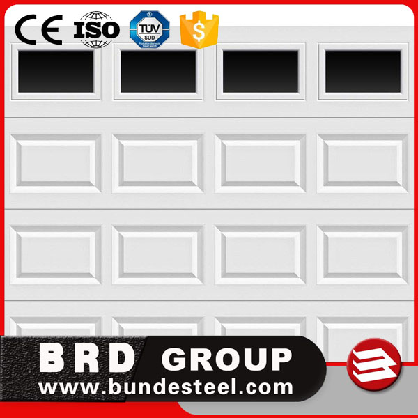 BRD high security steel automatic sectional garage door for sale
