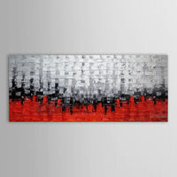 Frameless Europe Vintage Painting Acrylic Paint On Canvas Handpainted Oil Painting For Wall Artwork