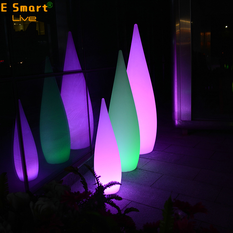 outdoor color changing plastic material Led Floor Lamp for garden decoration