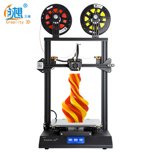 Shenzhen Creality 3 D Printer Multicolor Price Dual Extruder Two Color touch Screen FDM 3D Printer For Sale