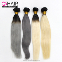 2016 Best quality New Fashion two tone ombre colored hair weave bundles