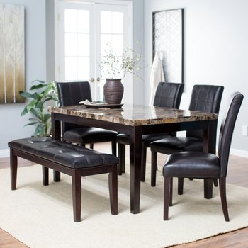 27e1adb1d4 Four Chairs One Bench 6 Pieces Marble Dining Table Set Modern - Buy ...