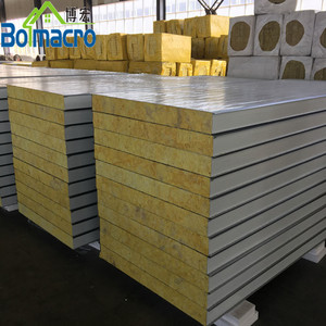 Insulated Aluminum Rock Wool Sandwich Panel For Sale Uae