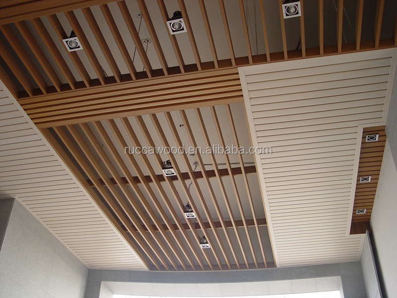 WPC Wooden False Ceiling Design for Gym 80*25mm China