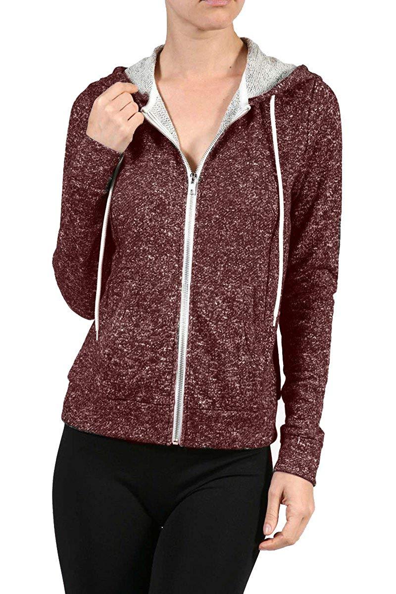 77499f0b7 Get Quotations · curvyluv.com Sale Women's Plus Size French Terry Hoodie  Drawstring Zip-up Hood Jacket