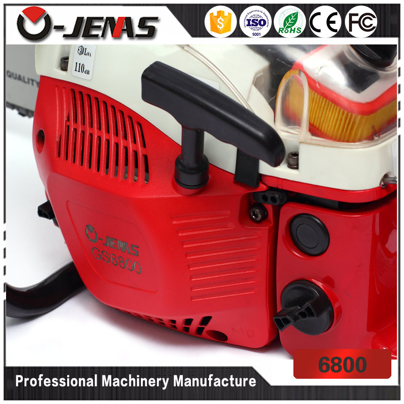Ojenas durable 68cc 3.2kw agriculture garden tools petrol chain saw wood cutting machine