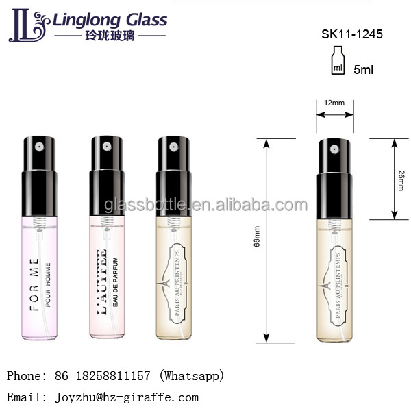 Factory direct sales 3ml perfume glass vial for perfume sampler