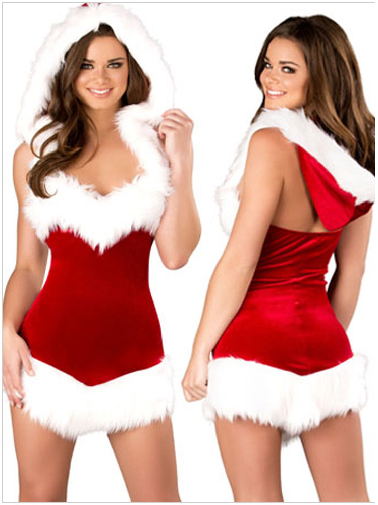 9403cacbe92 Get Quotations · Hot Sale Christmas Party Dress Women Gift Sexy Skirt  Christmas Hat Hollween Ladies Dress Santa Claus
