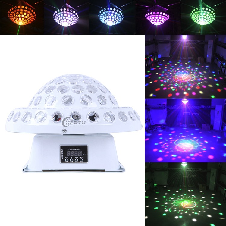 DMX 3W Music LED Magic Ball Light Projector For Disco, DJ, Nightclub, Home , Wedding Party, Christmas