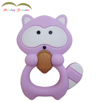 China Factory Supply BPA Free Cute New Food Grade Animal Soft Silicone Teether/Silcone Baby teether