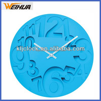 10 inches Silent Non-Ticking Quartz Wall Clock Decorative Indoor Kitchen Clock ,3D Numbers Display ,Battery Operated Wall Clocks