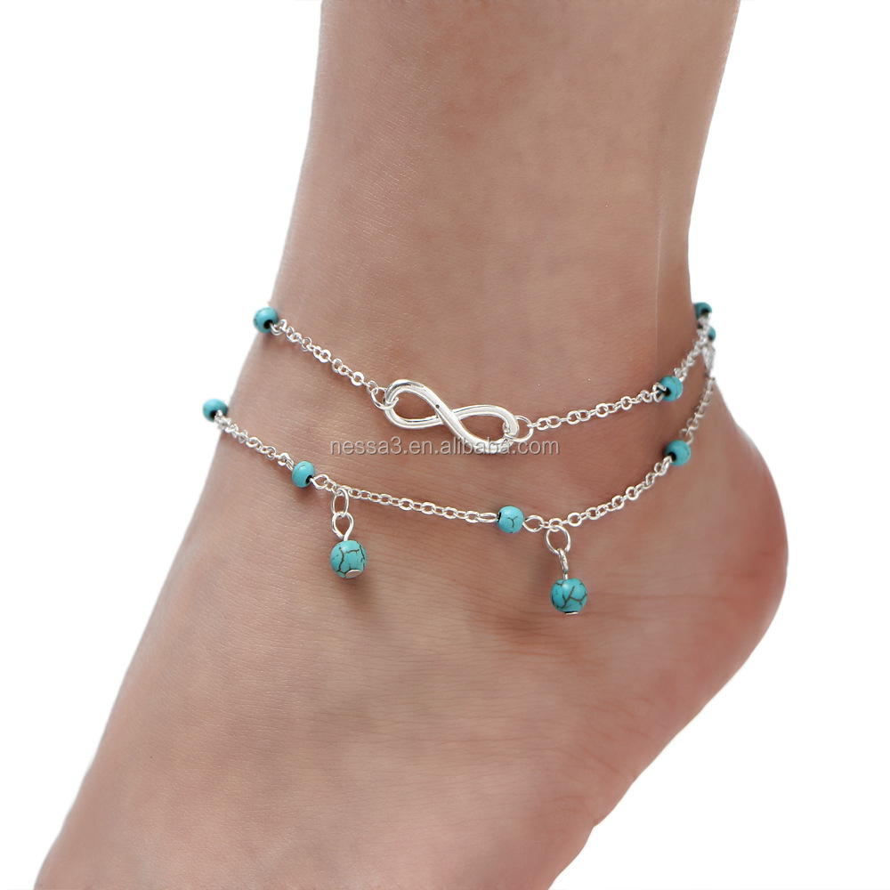 Fashion Infinity Anklet Wholesale HZS-0122