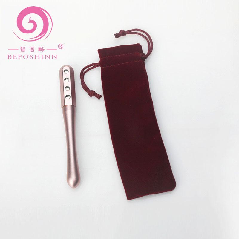 New beauty product 2020 health facial germanium massage roller germanium face beauty roller magnetic hand massage roller