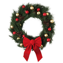 wholesale supplies xmas door decoration artificial christmas wreath for sale