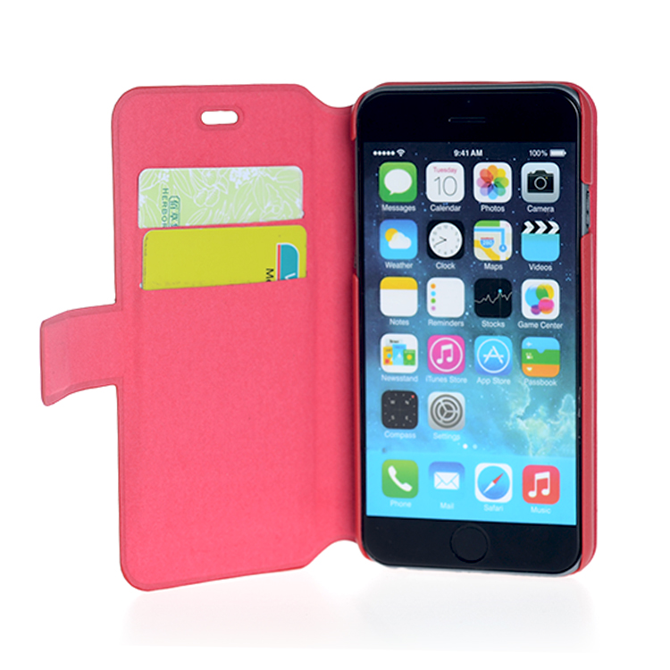 Voltage leather flip phone case for iPhone 6s with stand and 2 card slots