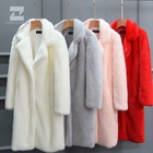 Top quality well designed long faux fur coat woman garment