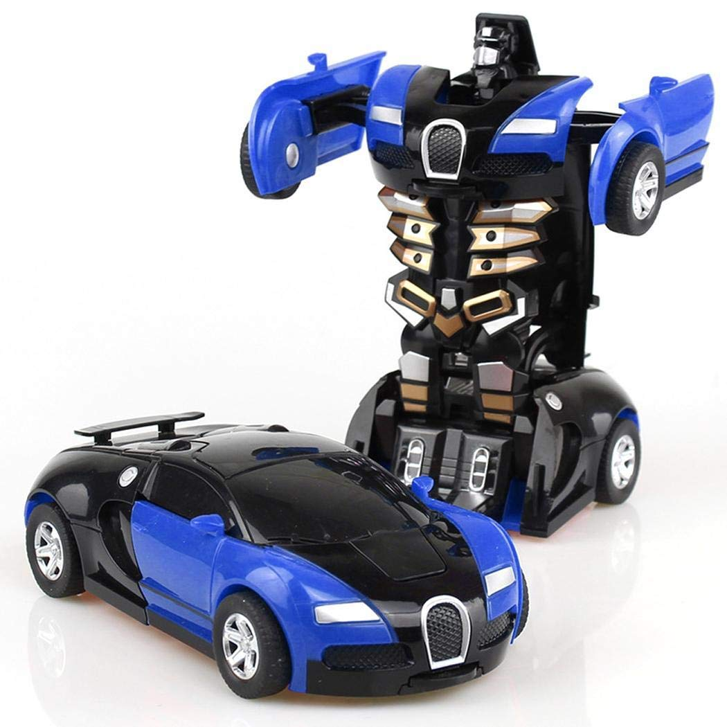 Bulges Cartoon Crash Deformation Transforming Robot Car Toy Kids Game Gift Pedal Cars