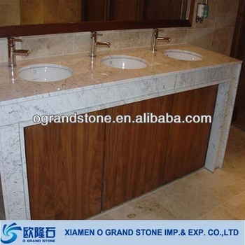 Italian Hotel White Carrera Marble Bathroom Vanity Top