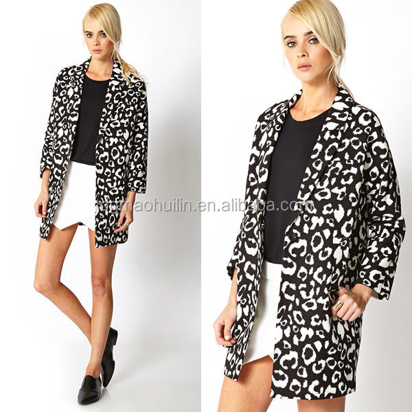 Fashion korea high fashion Wild Thing Leopard Trench Coat