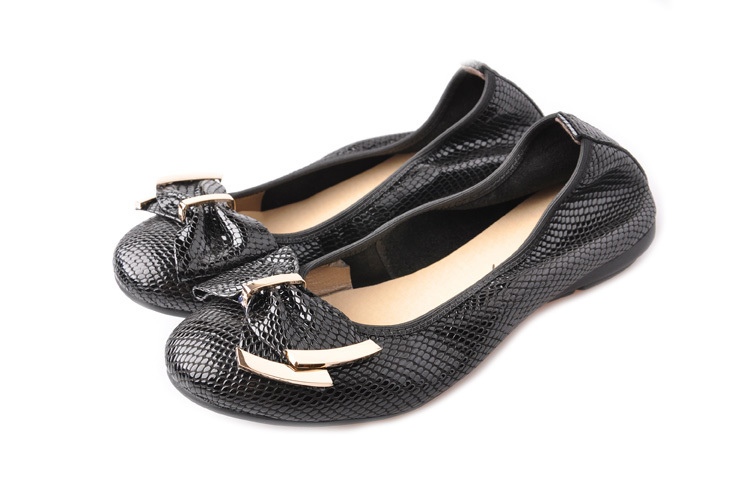 women's shoes flat round toe shallow mouth single  flower genuine leather  mother