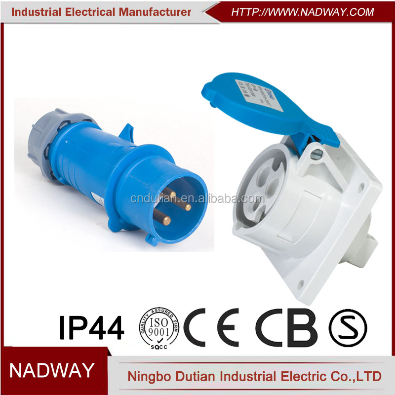 SITE SOCKET 16A INDUSTRIAL Building Worksite Electrics IP44 ROUND 3P 110V 2P+E Business, Office & Industrial Electrical Equipment & Supplies