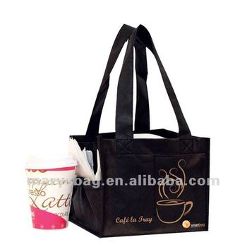 non woven 4 cup coffee and drink bag with hard base insert