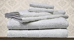 Pacific Coast Textiles Spa Collection 6 Piece Towel Set, White