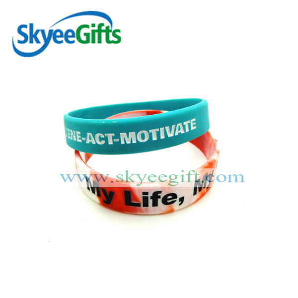 cheap and popular promotional gifts embossed/debossed silicone bracelet 2015 for one direction