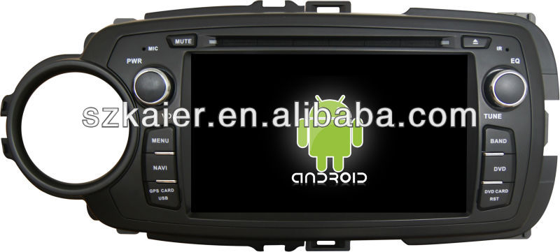 Android System car dvd player for Toyota Yaris with GPS,Bluetooth,3G,ipod,Games,Dual Zone,Steering Wheel Control
