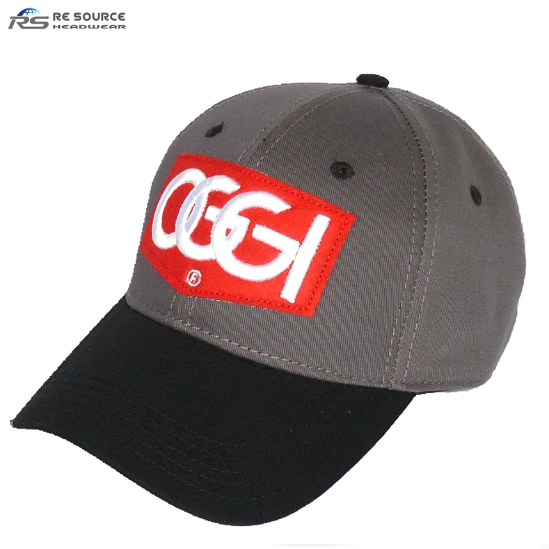 high quality stitching embroidery works embossed logo metal clip baseball caps hats