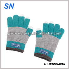 noble hot fashion SN factory Unisex touchscreen gloves igloves with high quality cashmere