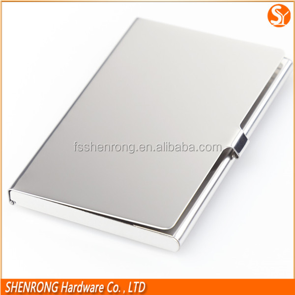 Anti-theft metal credit card holder stainless steel material silver color