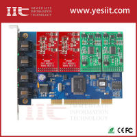 Asterisk 4 Port FXO FXS PCI Card for Voip IP PBX Digium TDM410P Openvox A400P ATCOM AX400P PSTN Asterisk Card FXO