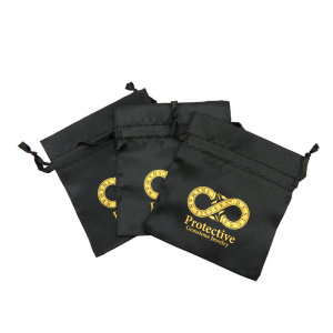 fashion top sale black jewelry silk bag /black satin pouches with custom logo